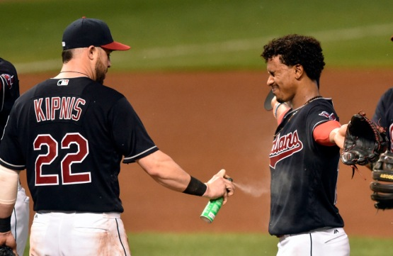 USP MLB: HOUSTON ASTROS AT CLEVELAND INDIANS S BBA USA OH